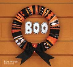 boo wreath by shelley