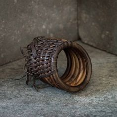 Bali Small Round Bracelet - Designed in collaboration with Balinese artisan Christian Graciel, this collection of hand carved jewelry is made of rose and teak wood. - Urban Zen