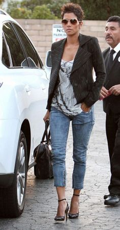 Halle Berry in Levi's.