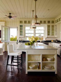 tongue and groove ceilings, hardwood flooring, glass cabinet doors, dutch door...