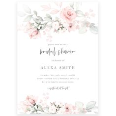 Pastel Florals Bridal Shower Invitation | Forever Your Prints