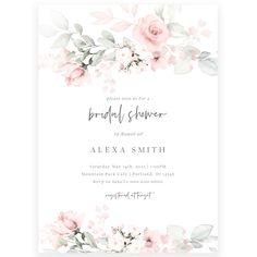 Pastel Florals Bridal Shower Invitation | Forever Your Prints