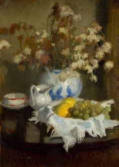Alfons Karpiński - Martwa natura z porcelaną i owocami, około 1929 - 30 r.