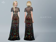 Embroidered Gown MARTHA (Valentino 2016 Resort)… | Starlord Sims | Sims 4 Updates -♦- Sims Finds & Sims Must Haves -♦- Free Sims Downloads