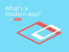 Dribbble - What's a modern app by Warry