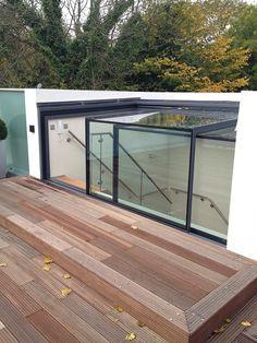 Glazing Vision Europe (Product) - Elektrisch dakluik Sliding Box, toegang voor dakterras, daktuin en groendak - architectenweb.nl