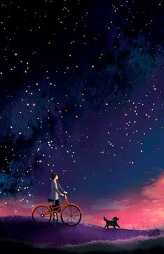 Starlit bike ride