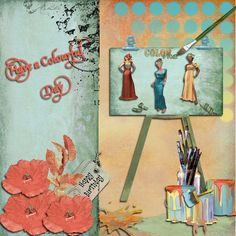 Picture made from a kit called Paint the Town by Lynne Anzelc