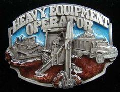 Heavy Equipment Operator Colored Belt Buckle: Clothing #heavyequipment