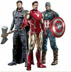 Captain America, Ironman and Thor Marvel Comics, Marvel Funny, Marvel Heroes, Marvel Characters, Marvel Avengers, Marvel Concept Art, Avengers Wallpaper, Superhero Movies, American Comics