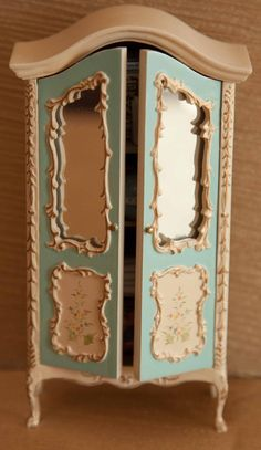 Vintage Dollhouse Miniature Armoire