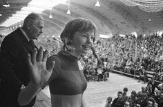 Inger Nilsson als Pippi Langkous op 12-jarige leeftijd tijdens een optreden in Amsterdam in 1972