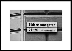 Stockholm Södermalm Poster in the group Posters / Sizes / 50x70cm at Desenio AB (2871)