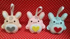 Spiral bunny plushies ~Dreamgirl Crafty