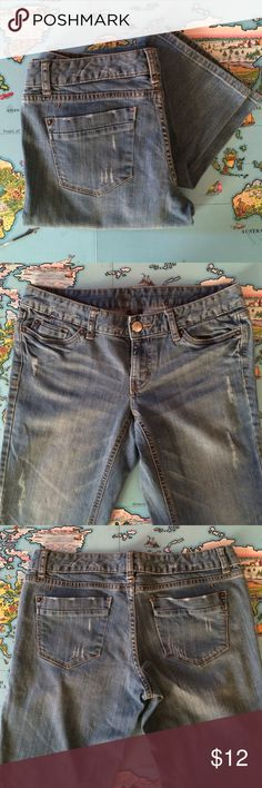 Mossimo Jeans Jeans from Mossimo. Size 6 Long, Fit 3. Very good used condition. Light distressing. Cat friendly home. No trades, holds or Paypal. 20% off of 2+ bundles. Mossimo Supply Co Pants