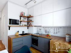 Скандинавский стиль на Артема, AS interior / Алла Степанченко, Кухня, Дизайн интерьеров Formo.ua