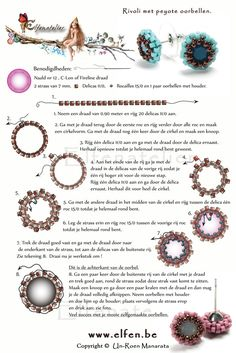 Free Peyote Rivoli Stud Earrings Pattern from elfen.be featured in Bead-Patterns.com Newsletter!