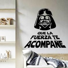 Decora la pared con vinilos Star Wars http://www.icono-interiorismo.blogspot.com.es/2015/12/decora-la-pared-con-vinilos-star-wars.html