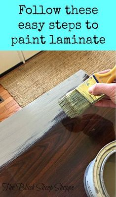 Here's a step by step tutorial on how to stain laminate furniture. Yes, you can stain laminate! In this furniture makeover I show you how to use gel stain on a laminate MCM night stain. Update old laminate furniture with Gel stain easily! Painting Pressed Wood, Painting Laminate Floors, Laminate Flooring Diy, Wood Laminate, How To Paint Laminate, Paint Laminate Cabinets, Laminate Cabinet Makeover, Painting Tiles, Painted Floors