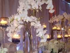 Simple orchid centerpiece...I love orchids