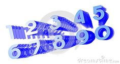 Image representing a set of numbers on a colorful background in blue tones.