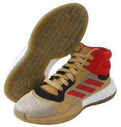 adidas Marquee Boost Men's Basketball Shoes Beige Red NBA Shoes NWT G27742 #adidas #BasketballShoes Basketball Shorts Girls, Adidas Basketball Shoes, Adidas Sneakers, Buy Basketball, Adidas Boost Mens, Adidas Men, Kid Shoes, Girls Shoes, Nylons