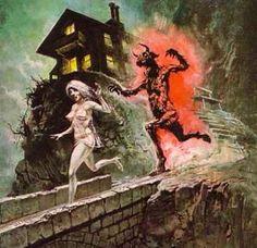 Cool vintage pulp horror