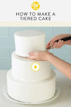 Watch and learn everything you need to know to stack a tiered cake! Stacking a cake is the best way to ensure your tiered cake is secure. In this video, we will show you an easy way to stack a tiered cake even if you're a beginner cake decorator. Cake Decorating For Beginners, Easy Cake Decorating, Cake Decorating Techniques, Cake Decorating Tutorials, How To Stack Cakes, How To Make Cake, Diy Wedding Cake, Stacking A Wedding Cake, Wedding Vows