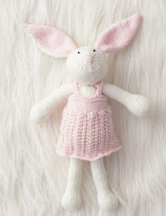 Zoe Bunny - Free knitting Pattern - Patons Beehive Baby Sport - Yarnspirations.com