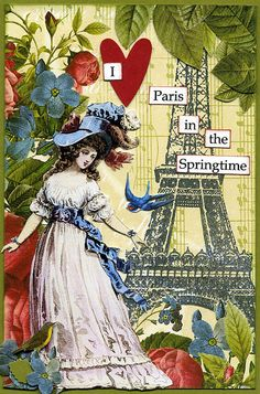 Springtime in Paris Postcard | Flickr: Intercambio de fotos