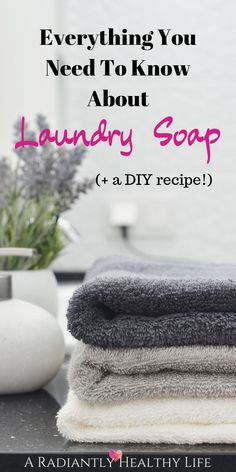 How To Create A Healthy Home: The Laundry Room-Part 1 Regular laundry soap is full of chemicals that have been found to be toxic, and they don't just wash out! Learn more about laundry soap and find the best non-toxic options along with DIY natural recipe Natural Cold Remedies, Cold Home Remedies, Herbal Remedies, Low Fat Protein, Organic Cleaning Products, Health Trends, Eating Organic, Natural Medicine, Healthy Life