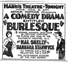 80 best harris theatre 170 north dearborn street chicago illinois Happy Land 1943 Film promotional ad for the 1928 premiere chicago production of the ge e manker watters arthur hopkins edy burlesque at the harris theatre