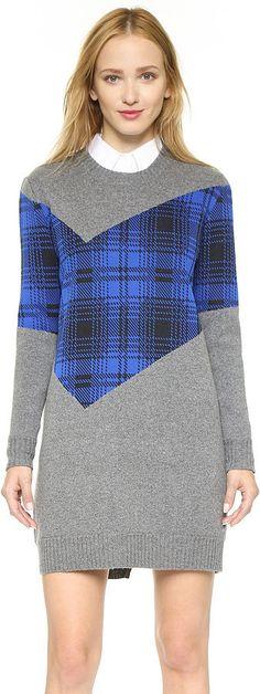 Thakoon Plaid Combo Sweater Dress ($550)