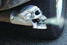 Skull Auspuff-Endrohr - http://www.dravenstales.ch/skull-auspuff-endrohr/