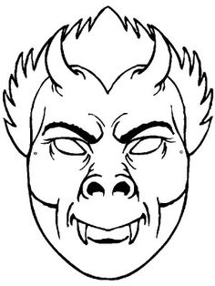 Masks coloring page 27