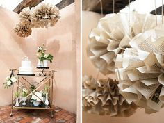 Paper wedding decor Inspiration using old books Paper Wedding Decorations, Wedding Paper, Wedding Poms, Flower Decorations, Wedding Blog, Wedding Venues, Wedding Ceremony, Diy Wedding Inspiration, Wedding Ideas