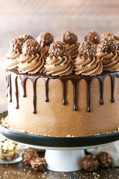 Nutella Chocolate Cake, Chocolate Cake Recipe Easy, Dark Chocolate Cakes, Chocolate Desserts, Delicious Chocolate, Chocolate Buttercream, Chocolate Cake Designs, Chocolate Chips, Bolo De Chocolate