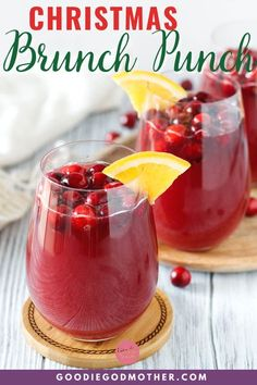 5 minutes · Vegan Gluten free Paleo · Serves 6 · This easy and festive non-alcoholic punch is perfect for serving at your next holiday meal! The flavors are bright, sure to please, and bubbly is always appropriate! Brunch Punch, Brunch Drinks, Yummy Drinks, Nonalcoholic Punch Recipe, Alcoholic Punch Recipes, Christmas Punch, Christmas Cocktails, Christmas Snacks, Christmas Ideas