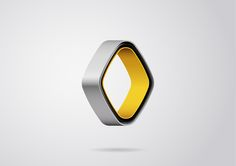 Futuristic logo for Renault by Sylvain Boyer