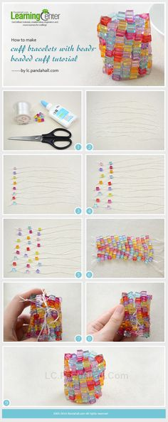 How to Make Your Own Colorful Cuff Bracelet with Cube Beads