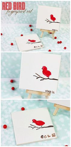 Mother's Day Kids Craft Activity – Fingerprint Bird Art – What a thoughtful gift for Mom or Grandma from the kids! Craft Activities For Kids, Projects For Kids, Art Projects, Nanny Activities, Thoughtful Gifts For Him, Fingerprint Art, Bird Crafts, Snow Crafts, Easy Crafts