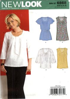 New Look 6868 Misses' Top Six Sizes in One