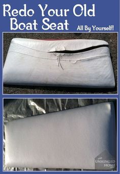 Have a nasty old seat on your boat that needs to be recovered? Learn how to do it here.