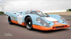 1970 Porsche 917K navigates Circuit Dijon Prenios. Previously owned by race car driver, Jo Siffert, and used in the 1971 film Le Mans. Chassis 917-024, Auctioned at Pebble Beach August 2017.
