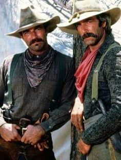 Tom Selleck and Sam Elliott. Sam Elliott has the sexiest voice! Cowboy Up, Cowboy Pics, Cowboy Images, Cowboy Pictures, Sexy Cowgirl, Western Cowboy, Western Film, Western Movies, Western Art