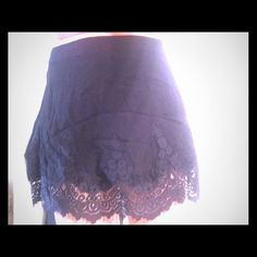 Stella Laguna Beach skirt High waisted mini skirt. Black with lace detail at bottom. Stella Laguna Beach  Skirts Mini