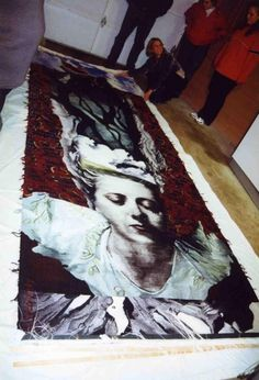 Shelly Socolofsky   Soliloquy,  13.5'x5', wool, cotton, silk, rayon