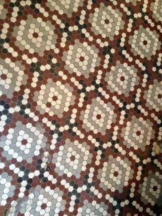 Floor of an antique shop.