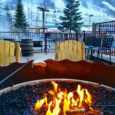 The perfect way to warm up after a long day on the slopes Winter Vacations, Vacation Resorts, Park City, Warm, Outdoor Decor, Travel, Winter Holidays, Viajes, Vacation Spots