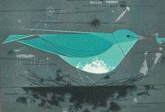 Charles Harper   Mountain Bluebird  (FORD TIMES - november 1956)